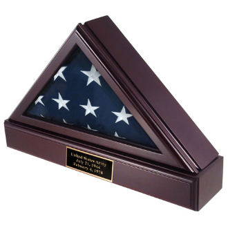 Flag Shadow Box + Pedestal + Plate For 5ft X 9ft Flag - New