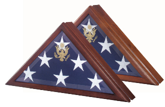 Marine Corp Flag Case Presidential Flag Display Case With Seal