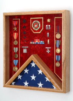 Flag Display Case Combo Awards Shadow Box