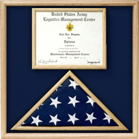 Air Force Flag And Certificate Display Case