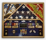 Flag Shadow Case, 3 Flag Military Shadow Box