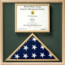 Flag And Certificate Combination Box Flag Certificate Display