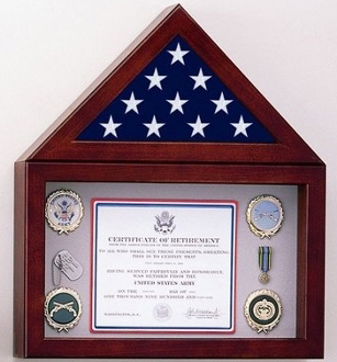 Flag Display Case With A Shadow Box