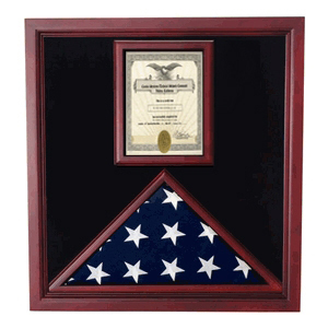 Veterans Flag And Document Case - Vertical 8 1/2 X 11 Document