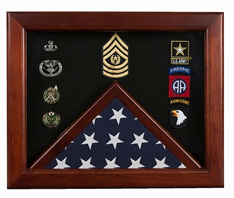 Master Sergeant Flag Display Cases - Master Sergeant Gift