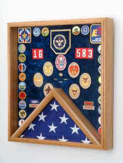 Scout Deluxe Awards And Flag Display Case