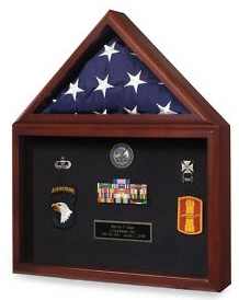 Large Flag And Medal Display Case