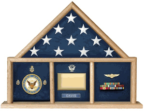 Oak 5 X 9.5 Army Flag Memorial Case
