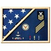 Navy Flag Display Case - Navy Flag And Medal Display Case