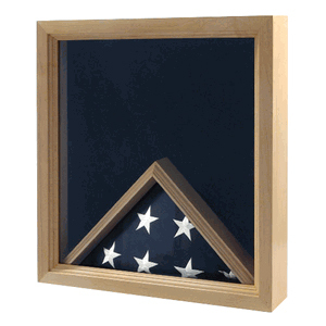 Flag Medal Display Case, Military Flag Box