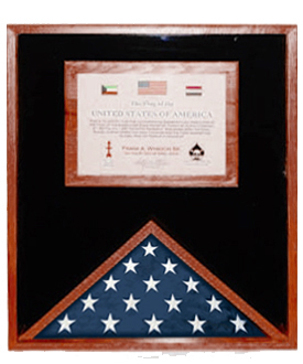 Flag Display Cases With Certificate Holder-Vetransdepot