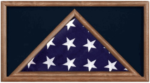 Large Military Flag And Medal Display Case -shadow Box