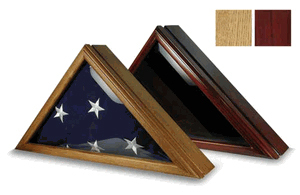 Flag Display Case For 5' X 9.5', Wood Burial Flag Display