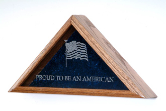 Personalized Flag Display Case-Vetrans