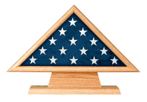 Memorial Flag Case And Pedestal