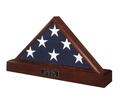 Officers Flag Display Case And Pedestal For 5ft X 9.5ft Flag- Veterans