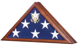 Presidential Flag Display Case Engraved Seal