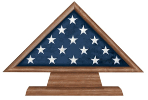 Retirement Flag Memorial Case On Pedestal