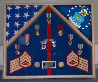 Navy Flag Case For 2 Flags And Medals