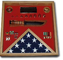 Flag And A Knife Display Case