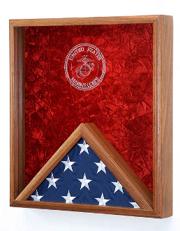 Marine Corps Flag & Medal Display Case