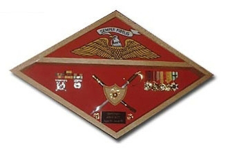 Marine Corps Flag Display Case-Vetrans