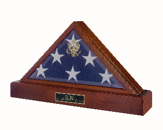 Police Flag and Pedestal, Burial Display Case