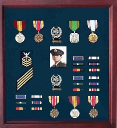 Military Medal Case, Shadow Box photo Holder, Military Medal