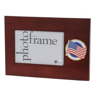 American Flag Medallion 4 by 6 Desktop Picture Frame