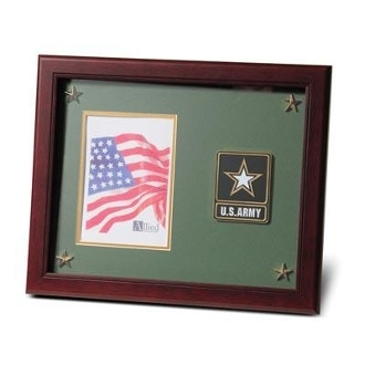 Go Army Medallion Picture Frame with Stars