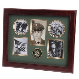 U.S. Army Medallion 5 Picture Collage Frame