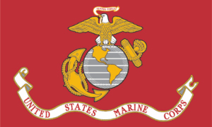 The Marine Corps flag