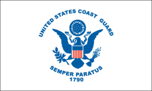 Coast Guard Flag 4ft x 6ft Superknit Polyester