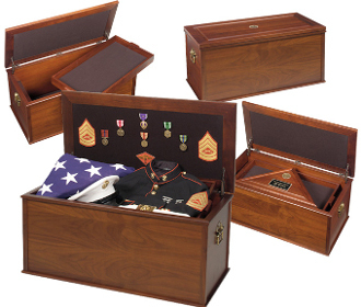 Heirloom Personal Effects Chest - Flag and medal chest