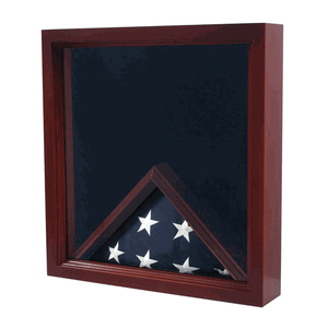Military Medal Shadow Box with Display Case for Memorial Flag
