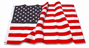 American Flag 3ft x 5ft sewn cotton with rich vibrant colors