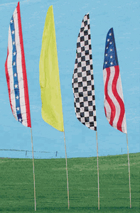 Low Cost Feather Banner Flag and Pole Kit