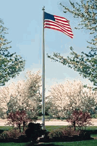 Commercial Grade Sectional 20ft. Flagpole - Clear Anodized