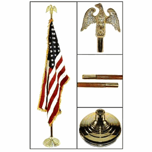 Indoor American Flag and Flag pole Kit