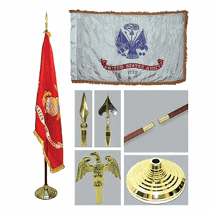Army 3ft x 5ft Flag, Flagpole, Base, and Tassel