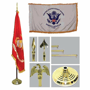 Army 4ft x 6ft Flag, Telescoping Flagpole, Base, and Tassel