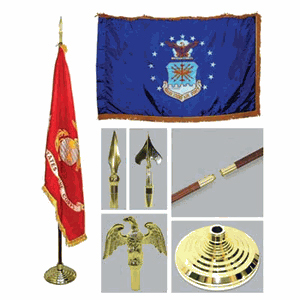 Air Force 3ft x 5ft Flag, Flagpole, Base, and Tassel