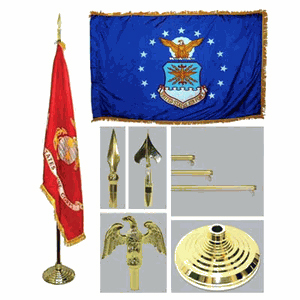 Air Force 4ft x 6ft Flag, Telescoping Flagpole, Base, and Tassel