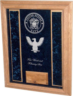 Deluxe Awards Display Case, Military Deluxe Awards Display Case