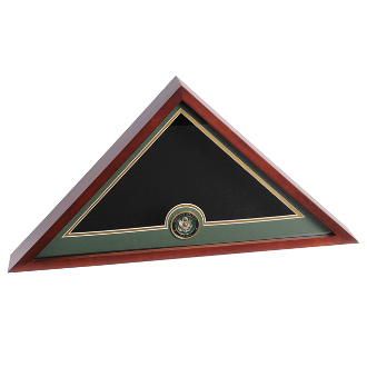 Army Flag and Medallion Display Case