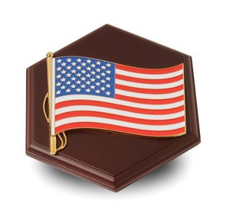 Paperweight with American Flag Medallion