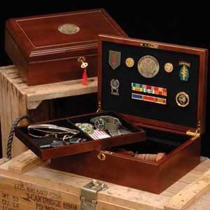 Military Wood Case, Great Seal Insignia Box, Military Case