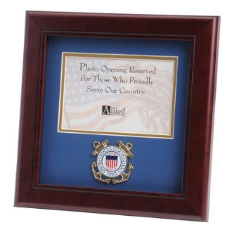 U.S. Coast Guard Medallion Landscape Picture Frame