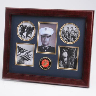 U.S. Marine Corps Medallion 5 Picture Collage Frame