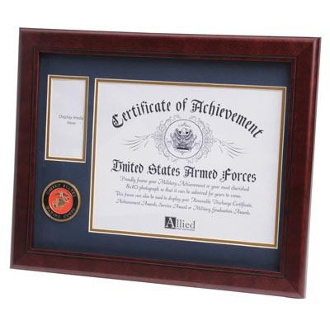 U.S. Marine Corps Medallion Certificate and Medal Frame
